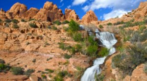This Stunning Man-Made Waterfall In Utah Is Just Begging To Be Visited