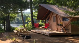 This Amazing, Luxury 'Glampground' In New Hampshire Will Blow Your Mind