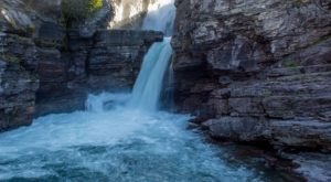 Take This Easy Trail To An Amazing Double Waterfall In Montana