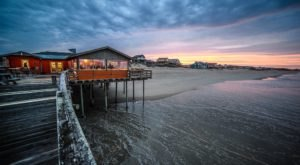 Dine Above The Surf At This Seafood Restaurant On The Pier In North Carolina