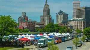 You Could Spend Hours At This Giant Outdoor Marketplace In Rhode Island
