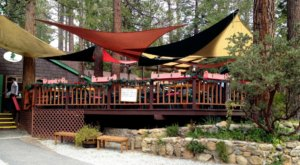 The Little Swiss Restaurant In The Southern California Mountains Where You Can Dine Under A Canopy Of Trees