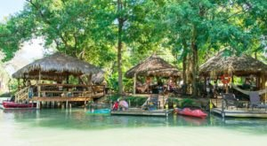 Camp Right On The River At This Tropical Getaway In Texas