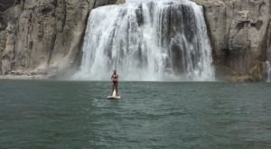 Paddling Up To Idaho's Largest Waterfall Is A Bucket List Adventure You'll Definitely Want To Try