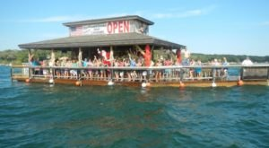 You Can Cruise Around Lake Okoboji On This Floating Tiki Bar In Iowa