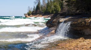 This Michigan Beach And Waterfall Will Be Your New Favorite Paradise