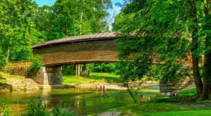 Take A Dip Under This Historic Covered Bridge For An Unforgettable Virginia Adventure