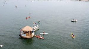 You Can Cruise Around The Long Island Sound On This Floating Tiki Bar In Connecticut