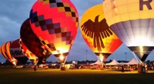 This Magical Hot Air Balloon Glow Near Detroit Will Light Up Your Summer