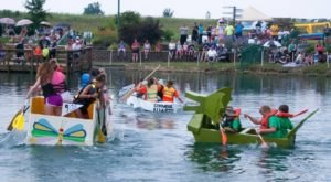 This Cardboard Boat Race In Cincinnati Is The Wackiest Thing You'll See All Year
