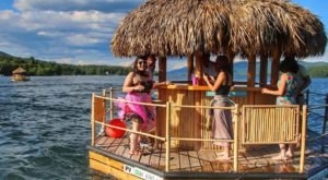A Trip To This Floating Tiki Bar In Michigan Is The Ultimate Way To Spend A Summer's Day