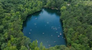 This Swimming Hole Hike In North Carolina Leads To A Hidden Quarry Filled With Spring Water