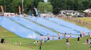 Splash Your Way Into Summer On This Massive Slip 'N Slide In Michigan