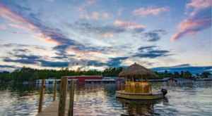 You Can Cruise Around Lake Winnipesaukee On This Floating Tiki Bar In New Hampshire