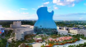 Spend The Night At The World's Very First Guitar-Shaped Hotel In Florida