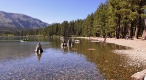 Get Away From It All At This Crystal Clear Lake In Northern California