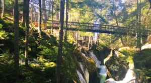 This Fairytale Bridge In Vermont Soars Over Two Enchanting Waterfalls