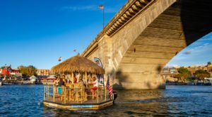 You Can Cruise Around Lake Havasu On This Floating Tiki Bar In Arizona