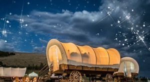 Stay The Night In A Old-Fashioned Covered Wagon On This Oklahoma Farm