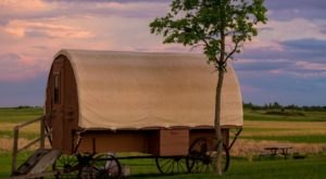 Stay The Night In An Old-Fashioned Covered Wagon On This South Dakota Homestead