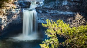 Take This Easy Trail To An Amazing Triple Waterfall In Alabama