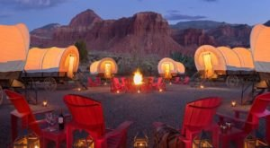 Stay The Night In An Old-Fashioned Covered Wagon At This Utah Resort