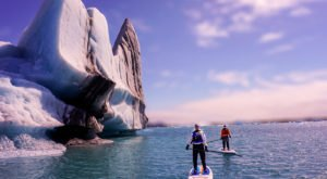 You Can Paddleboard Next To A Glacier Along This Amazing Tour In An Alaska Lagoon