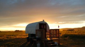 Stay The Night In A Old-Fashioned Covered Wagon On This Montana Farm
