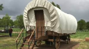 Stay The Night In An Old-Fashioned Covered Wagon At This North Dakota Park