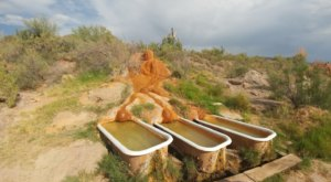 Soak Your Cares Away, Then Stay Overnight In A School Bus At This Utah Hot Springs