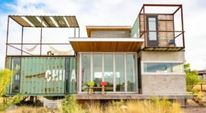 This Two-Story Shipping Container In The West Texas Desert Is Actually An Airbnb