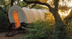 You Can Sleep Inside A Covered Wagon When You Visit BlissWood Bed & Breakfast Ranch In Texas
