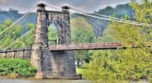 One Of The Nation's Oldest And Longest Suspension Bridges Is Right Here In West Virginia