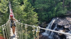 This Waterfall Bridge In North Carolina Is The Scariest Way In America To Chase A Waterfall