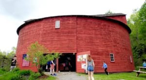 The Pakatakan Farmers Market In New York Is Located Inside The Historic Round Barn