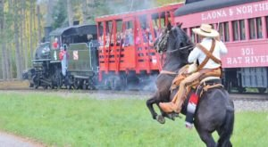 Take Lumberjack Steam Train To An Old Wisconsin Logging Camp For An Unforgettable Adventure