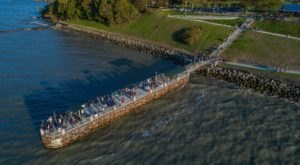 The 200-Foot Pier At Painesville Township Park In Ohio Features Beautiful Views Of Lake Erie