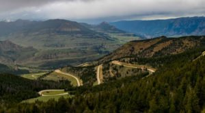 You'll Feel Like You're On Top Of The World When You Travel This Winding Wyoming Highway