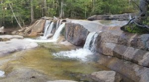Swim Underneath A Waterfall At This Refreshing Natural Pool In New Hampshire