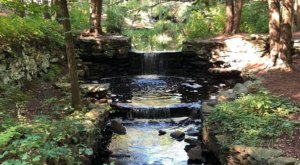 Discover A Small Waterfall Along Mass Audubon's Broadmoor Wildlife Sanctuary Trails In Massachusetts