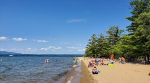 New Hampshire's Ellacoya State Park Has A 600-Foot Sandy Beach