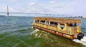 You Can Cruise Around Charleston On This Floating Tiki Bar In South Carolina