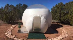 Sleep Under The Sprawling Arizona Night Sky In An Inflatable Dome Tent