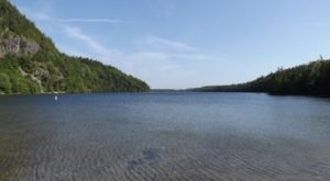 Get Away From It All At This Crystal Clear Lake In Maine