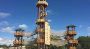 Challenge Yourself To A 3-Story Ropes Course At Texas' Adventure Park
