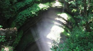 Visit Neversink Pit, A Rare Underground Waterfall In Alabama, For An Unforgettable Adventure