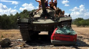 You Can Crush Cars While Driving A Tank At DriveTanks in Uvalde, Texas