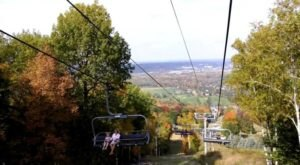 Soak In The Colors Of Fall With A Chairlift Ride To The Top Of Wisconsin's Rib Mountain