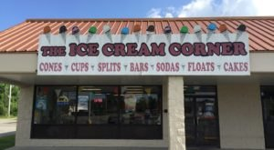 Stop By The Ice Cream Corner, A Charming Ice Cream Shop With Delicious Hard Scoop In Mississippi