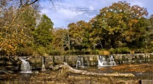 You Can Practically Drive Right Up To The Beautiful Natural Dam Falls In Arkansas